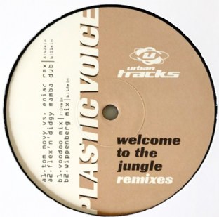 "Plastic Voice - Welcome To The Jungle (Remixes) (12"") (VG-/NM)"
